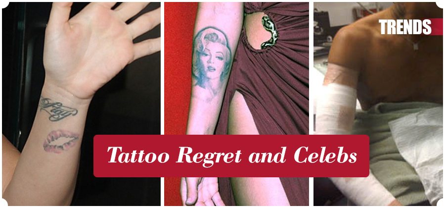Celebs with Tattoo Regret