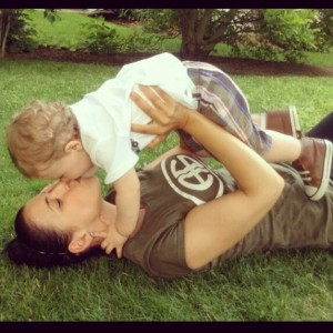 Giselle kissing Adrian