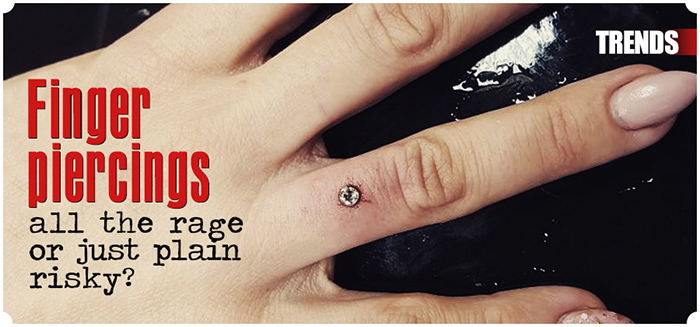 Wedding finger piercings