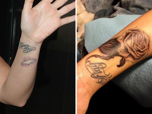 Demi Lovator Lips Tattoo